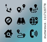 vector icon set about location... | Shutterstock .eps vector #1117120778