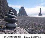 zen stone stacks or cairn on...   Shutterstock . vector #1117120988