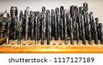 mechanical workshop tools | Shutterstock . vector #1117127189