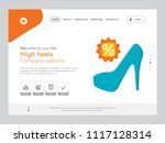 quality one page high heels... | Shutterstock .eps vector #1117128314