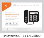 quality one page domestic phone ... | Shutterstock .eps vector #1117128800