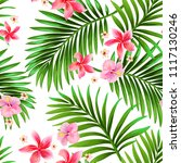 seamless hand drawn exotic... | Shutterstock .eps vector #1117130246