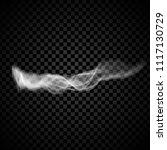 steam smoke isolated on black... | Shutterstock .eps vector #1117130729
