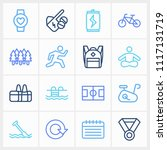 healthy icon set and energy...