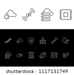 cloud technology icon set and... | Shutterstock .eps vector #1117131749