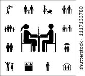 married couple at dinner icon....   Shutterstock .eps vector #1117133780