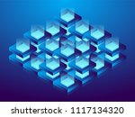 cryptocurrency and blockchain ... | Shutterstock .eps vector #1117134320