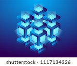 cryptocurrency and blockchain ... | Shutterstock .eps vector #1117134326