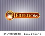 golden emblem or badge with... | Shutterstock .eps vector #1117141148