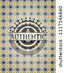 authentic arabesque emblem....   Shutterstock .eps vector #1117146860