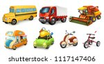 transportation 3d vector icon... | Shutterstock .eps vector #1117147406