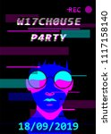witchhouse music event poster... | Shutterstock .eps vector #1117158140