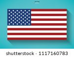 abstract american flag with... | Shutterstock .eps vector #1117160783