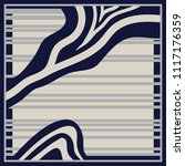 abstract stripes silk scarf... | Shutterstock .eps vector #1117176359