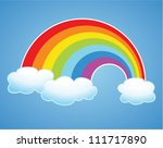 vector symbol of rainbow and... | Shutterstock .eps vector #111717890