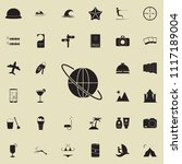 world trip icon. detailed set... | Shutterstock .eps vector #1117189004