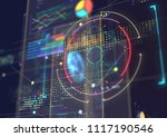 abstract techno background. | Shutterstock . vector #1117190546