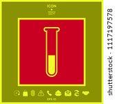 test tube icon symbol | Shutterstock .eps vector #1117197578