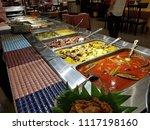 buffet spread at a restaurant... | Shutterstock . vector #1117198160