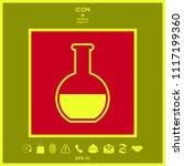 test tube symbol icon | Shutterstock .eps vector #1117199360