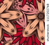 seamless floral background.... | Shutterstock .eps vector #1117202768