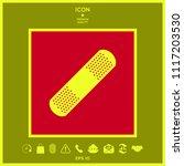 medical  plaster  adhesive... | Shutterstock .eps vector #1117203530