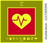 heart with ecg wave  ... | Shutterstock .eps vector #1117205594
