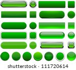 set of blank green buttons for... | Shutterstock .eps vector #111720614