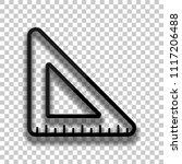 simple triangle  ruler. black... | Shutterstock .eps vector #1117206488
