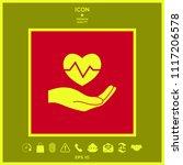hand holding heart. medical icon | Shutterstock .eps vector #1117206578