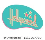 hollywood retro vector design... | Shutterstock .eps vector #1117207730