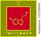 chemical formula icon. serotonin | Shutterstock .eps vector #1117209656