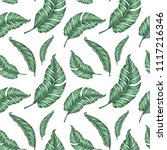 seamless pattern with palm... | Shutterstock .eps vector #1117216346