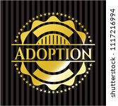 adoption gold emblem | Shutterstock .eps vector #1117216994