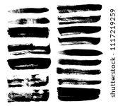 grunge hand drawn paint brush.... | Shutterstock .eps vector #1117219259