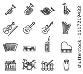 music instrument icons set with ... | Shutterstock .eps vector #1117219433