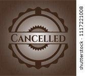 cancelled vintage wooden emblem   Shutterstock .eps vector #1117221008