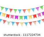 banner with garland of colour...   Shutterstock .eps vector #1117224734