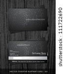 vector business card template... | Shutterstock .eps vector #111722690
