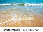wave   sand beach background  ... | Shutterstock . vector #1117230764