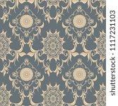 seamless wallpaper pattern.... | Shutterstock .eps vector #1117231103