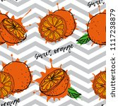 seamless pattern citrus fruits  ... | Shutterstock .eps vector #1117238879