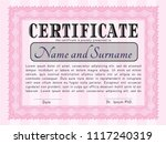 pink awesome certificate...   Shutterstock .eps vector #1117240319