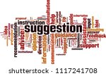 suggestion word cloud concept.... | Shutterstock .eps vector #1117241708