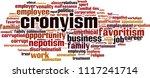 cronyism word cloud concept.... | Shutterstock .eps vector #1117241714