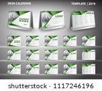 set desk calendar 2019 template ... | Shutterstock .eps vector #1117246196
