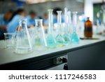 soft chemistry glassware for... | Shutterstock . vector #1117246583