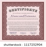 red certificate diploma or... | Shutterstock .eps vector #1117252904