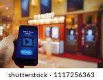 hand using mobile smart phone... | Shutterstock . vector #1117256363