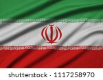 iran flag  is depicted on a...   Shutterstock . vector #1117258970